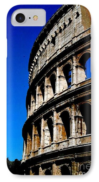 Roman Coliseum By Day Phone Case by Alberta Brown Buller