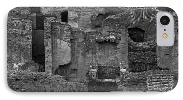 IPhone Case featuring the photograph Roman Colosseum Bw by Silvia Bruno