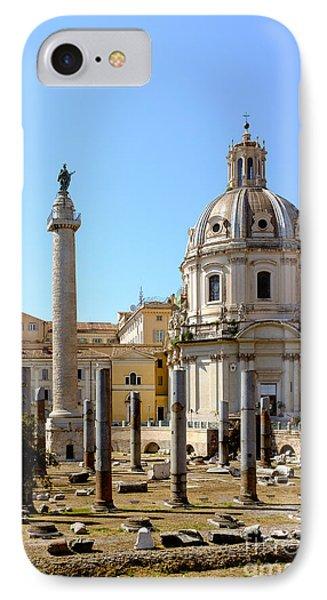 Roman Forum Phone Case by Edward Fielding