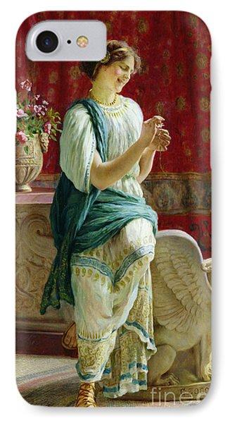Roman Girl IPhone Case by Guglielmo Zocchi