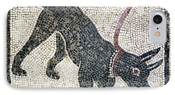 Roman Guard Dog Mosaic Phone Case by Sheila Terry