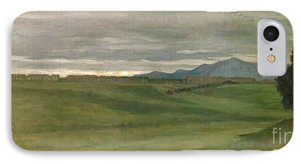 Roman Landscape IPhone Case by Antoine Auguste Ernest Hebert