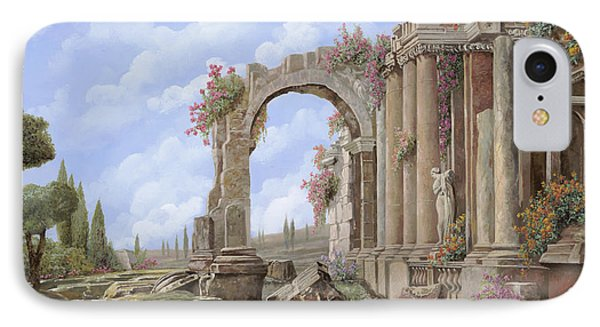 Roman Ruins IPhone Case by Guido Borelli