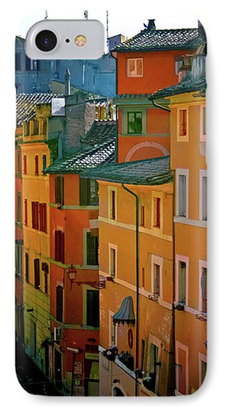 Roman Street IPhone Case by Terry Davis