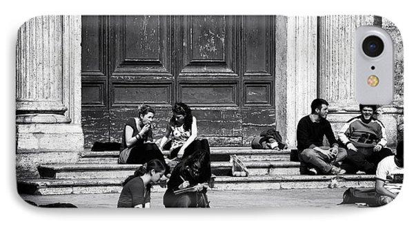 Roman Study Break Phone Case by John Rizzuto