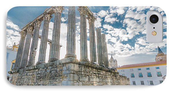 Roman Temple At Evora IPhone Case