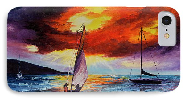 IPhone Case featuring the painting Romancing The Sail by Darice Machel McGuire
