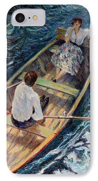 Dordogne , Beynac-et-cazenac , France ,romantic Boat Trip IPhone Case by Pierre Van Dijk