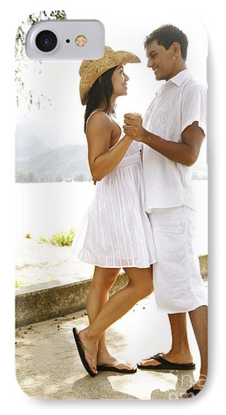 Romantic Couple In White Phone Case by Kicka Witte - Printscapes