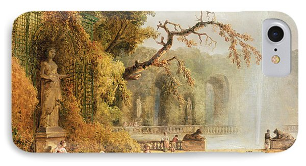 Romantic Garden Scene IPhone Case
