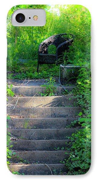 Romantic Garden Scene IPhone Case by Teresa Mucha
