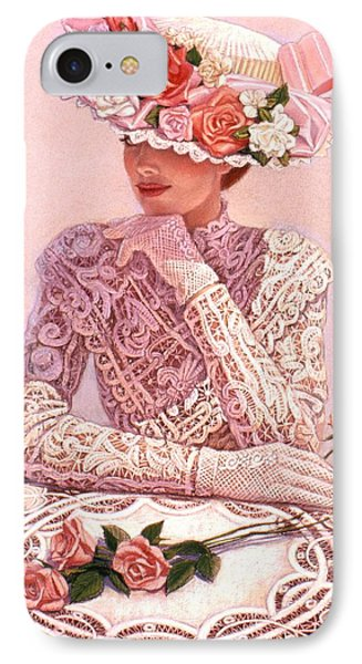 IPhone Case featuring the painting Romantic Lady by Sue Halstenberg