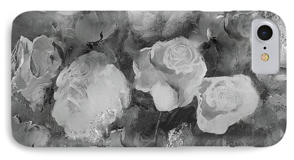IPhone Case featuring the painting Romantic Large Roses  by Robin Maria Pedrero