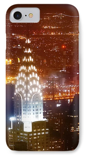 Chrysler Building iPhone 7 Case - Romantic Manhattan by Az Jackson
