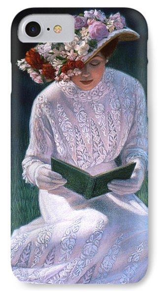 IPhone Case featuring the painting Romantic Novel by Sue Halstenberg