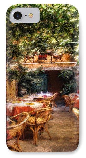Romantic Restaurant IPhone Case by Pennie McCracken