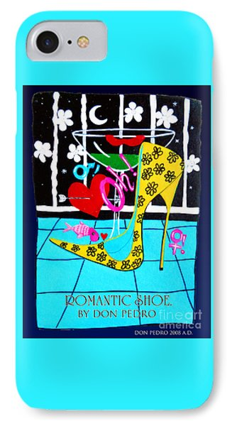 IPhone Case featuring the painting Romantic Shoe by Don Pedro De Gracia
