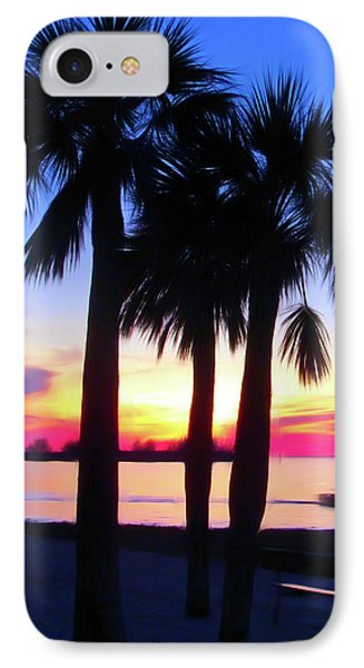 IPhone Case featuring the photograph Romantic Skies Beach Sunset by Aimee L Maher Photography and Art Visit ALMGallerydotcom