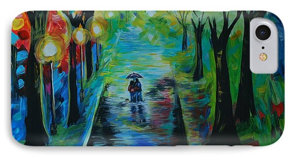 IPhone Case featuring the painting Romantic Stroll by Leslie Allen