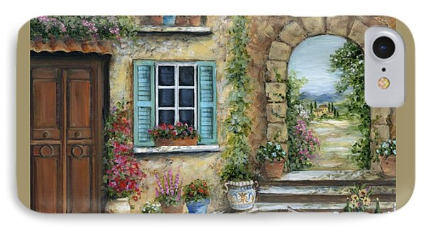 Romantic Tuscan Courtyard Il IPhone Case