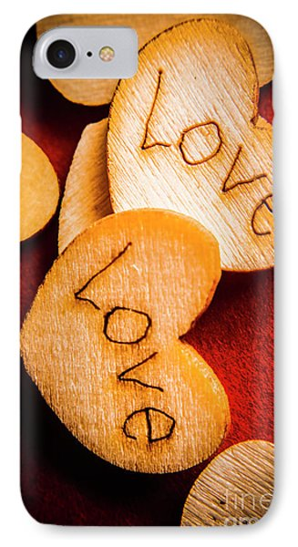 Romantic Wooden Hearts IPhone Case by Jorgo Photography - Wall Art Gallery