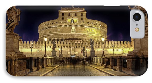 Rome Castel Sant Angelo IPhone Case by Joana Kruse