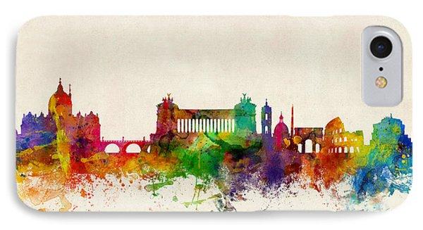 Rome Italy Skyline IPhone Case by Michael Tompsett