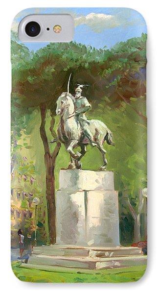 Rome Piazza Albania IPhone Case by Ylli Haruni