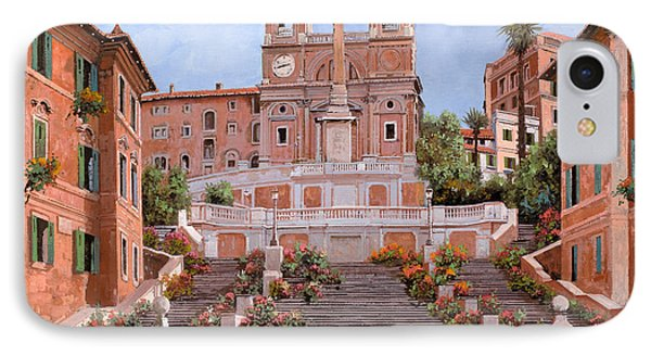 Street iPhone 7 Case - Rome-piazza Di Spagna by Guido Borelli