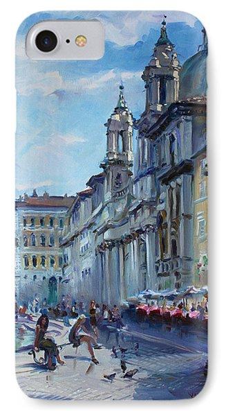 Rome Piazza Navona IPhone Case by Ylli Haruni