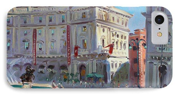 Rome Piazza Republica IPhone Case by Ylli Haruni
