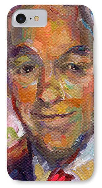 Ron Paul Art Impressionistic Painting  IPhone Case by Svetlana Novikova