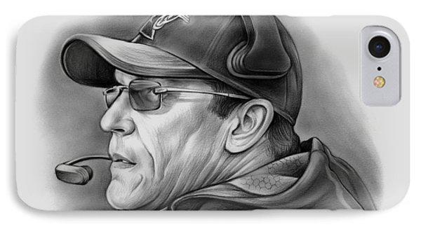Ron Rivera IPhone 7 Case by Greg Joens