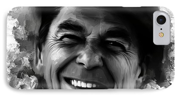 Ronald Reagan 003 IPhone Case by Gull G