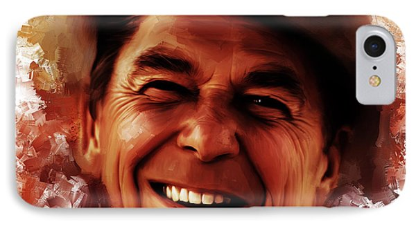 Ronald Reagan  IPhone Case by Gull G