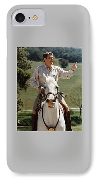 Ronald Reagan On Horseback  IPhone Case
