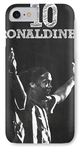 Ronaldinho IPhone Case by Semih Yurdabak