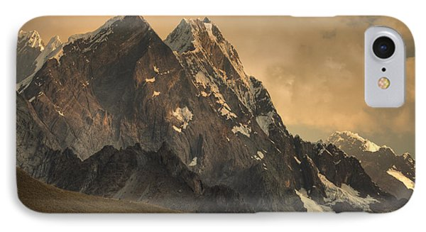Rondoy Peak 5870m At Sunset IPhone Case by Colin Monteath