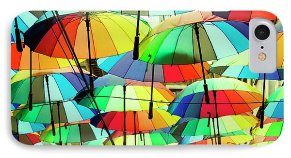 Roof Made From Colorful Umbrellas IPhone Case