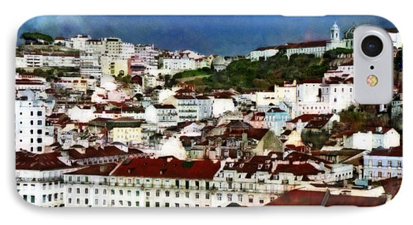 IPhone Case featuring the photograph Roofs Of Lisbon by Dariusz Gudowicz