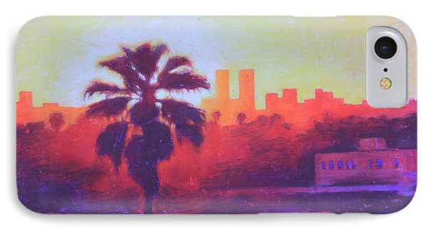IPhone Case featuring the painting Rooftop Glow by Andrew Danielsen