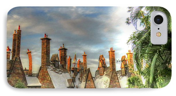IPhone Case featuring the photograph rooftops Hogsmeade by Tom Prendergast