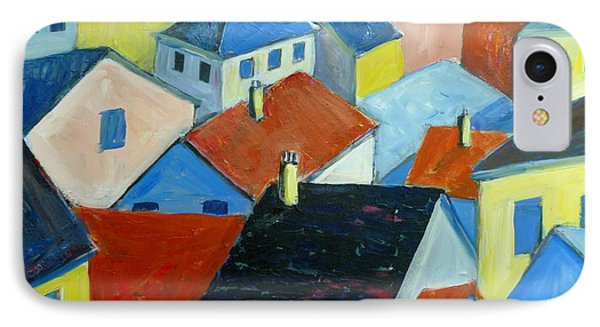 Rooftops In France IPhone Case