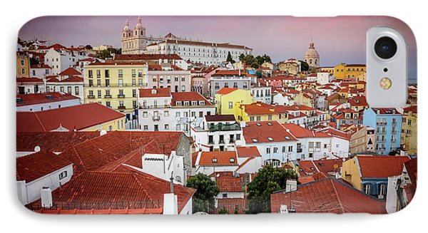 Rooftops Of Alfama Lisbon  IPhone Case by Carol Japp