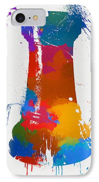 Rook Chess Piece Paint Splatter IPhone Case by Dan Sproul
