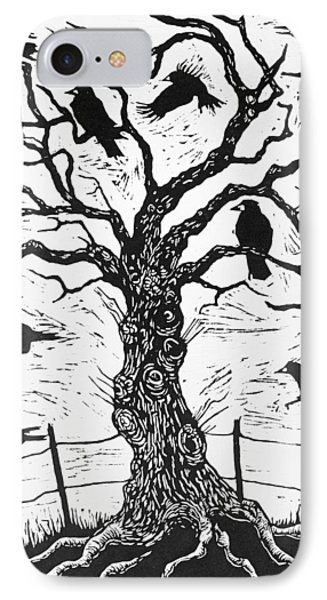 Rook Tree IPhone Case by Nat Morley