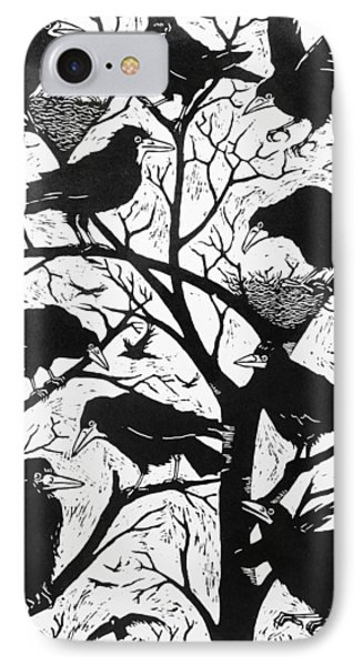 Rooks IPhone Case by Nat Morley