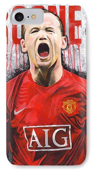 Rooney IPhone Case by Jeff Gomez