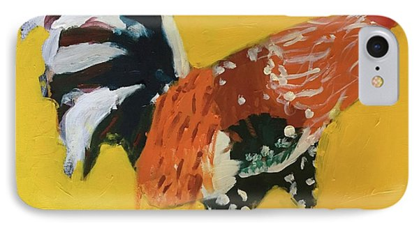IPhone Case featuring the painting Rooster 2 by Donald J Ryker III