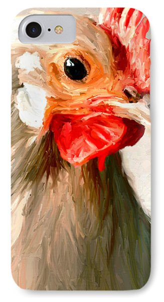 IPhone Case featuring the digital art Rooster 2 by James Shepherd
